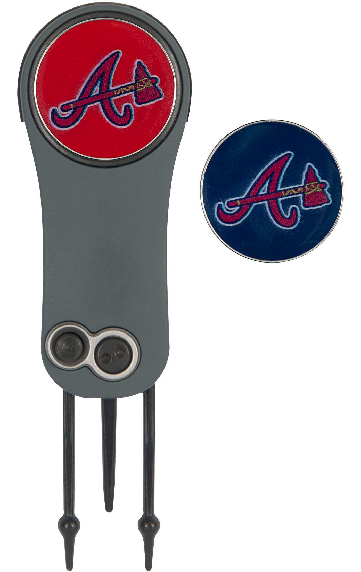 Team Effort Atlanta Braves Switchblade Divot Tool and Ball Marker Set