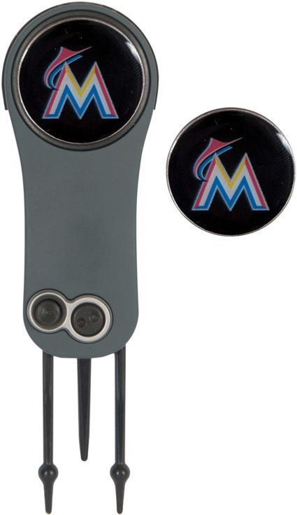 Team Effort Miami Marlins Switchblade Divot Tool and Ball Marker Set