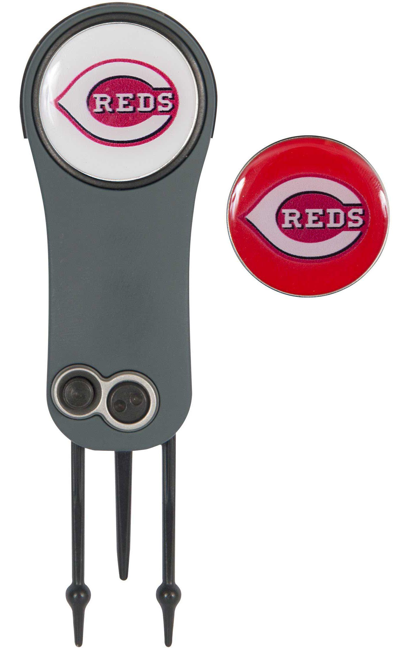 Team Effort Cincinnati Reds Switchblade Divot Tool and Ball Marker Set
