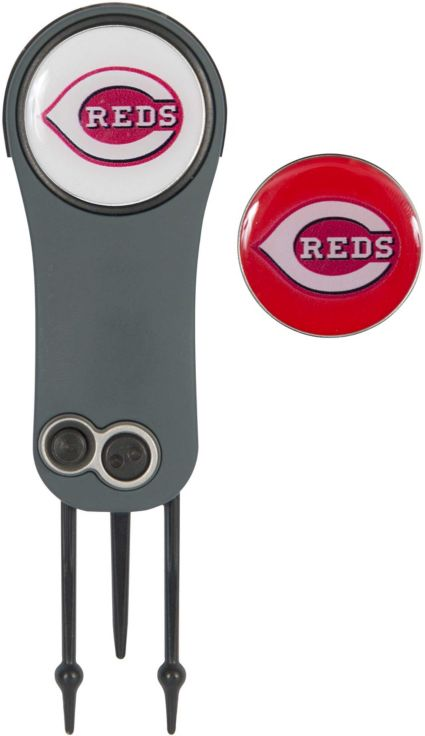 Team Effort Cincinnati Reds Switchblade Divot Tool and Ball Marker Set