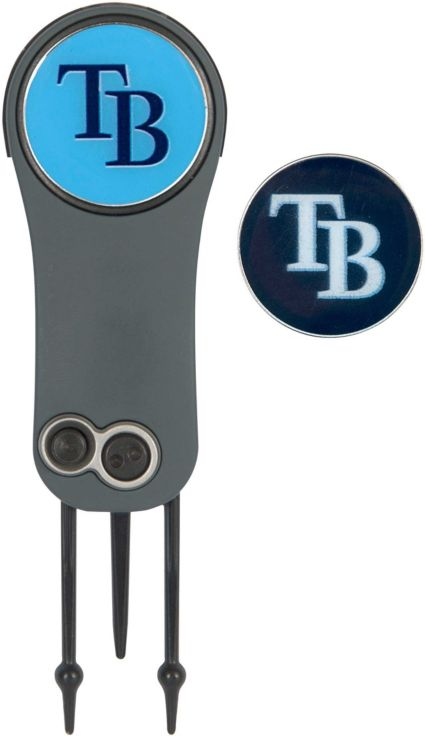 Team Effort Tampa Bay Rays Switchblade Divot Tool and Ball Marker Set