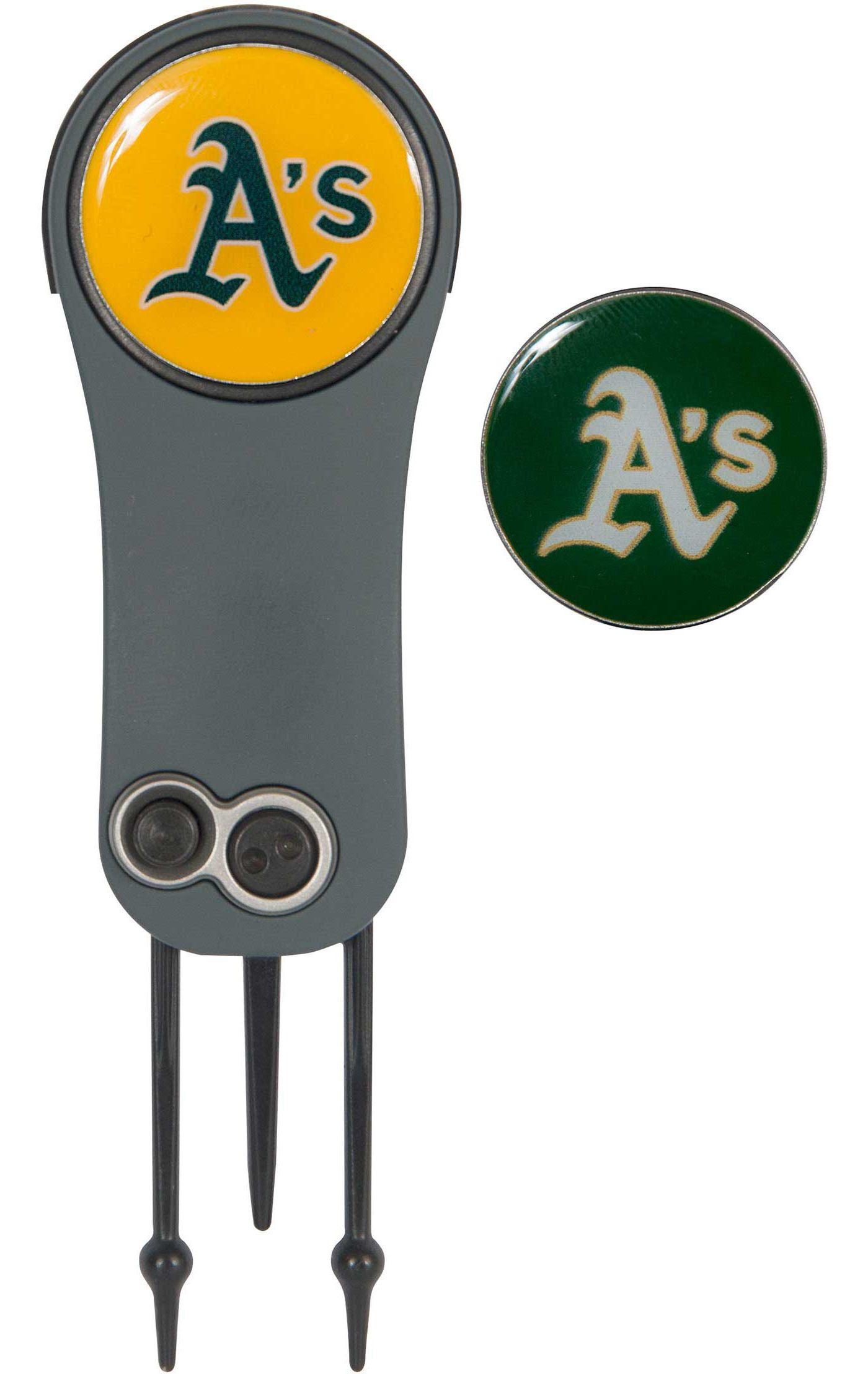 Team Effort Oakland Athletics Switchblade Divot Tool and Ball Marker Set