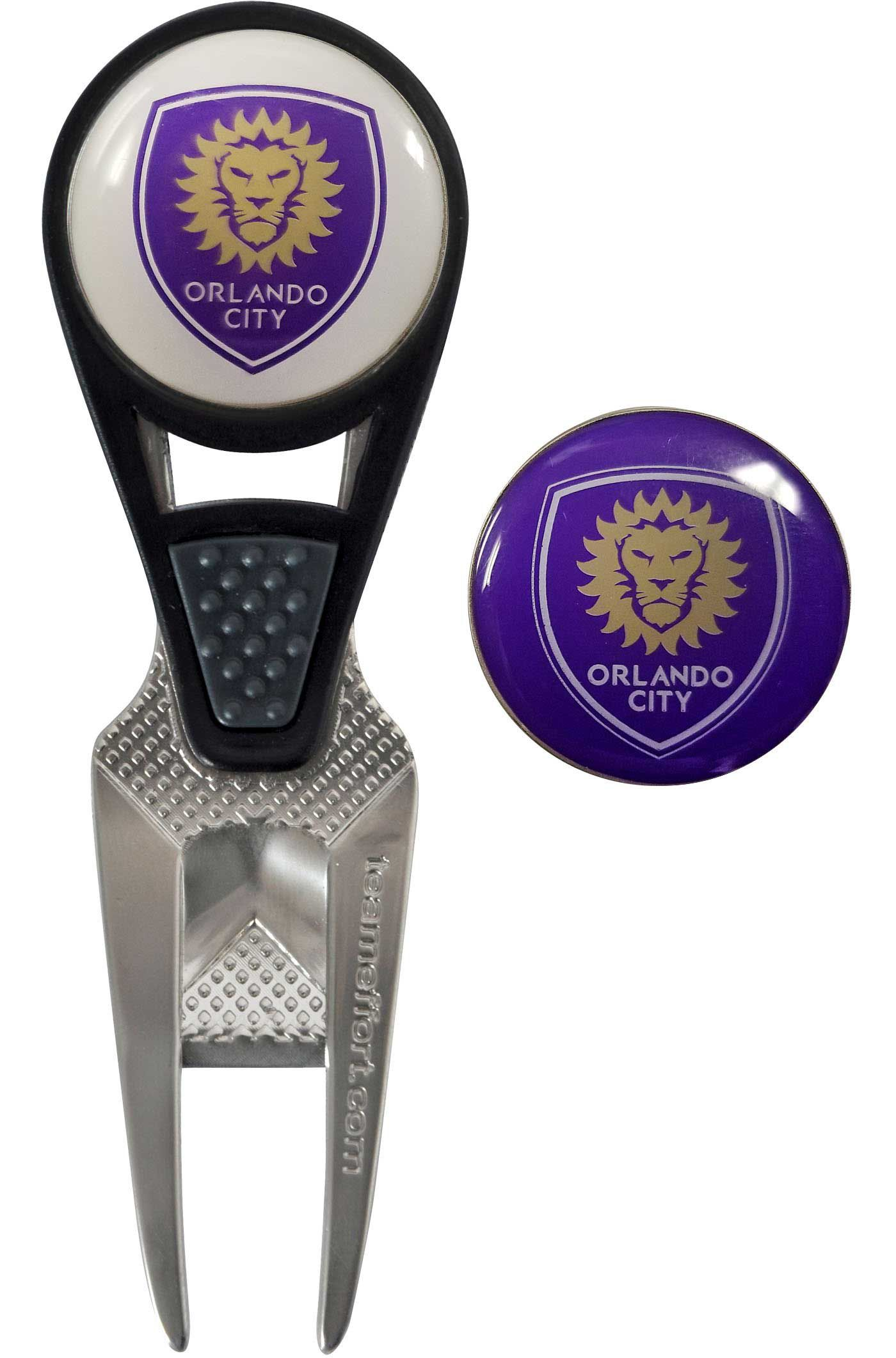 Team Effort Orlando City CVX Divot Tool and Ball Marker Set