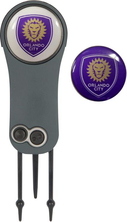 Team Effort Orlando City Switchblade Divot Tool and Ball Marker Set