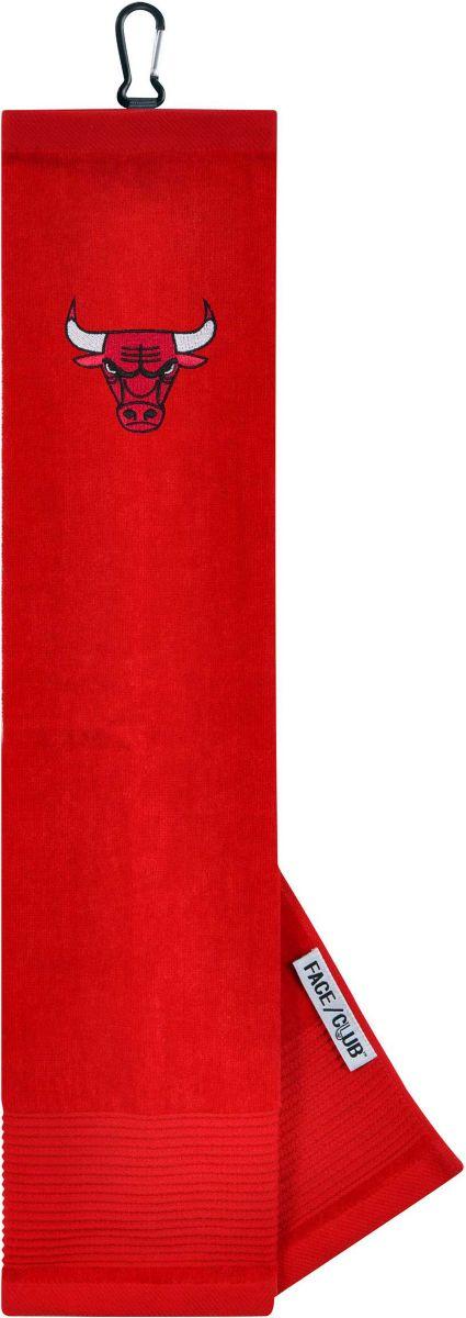 Team Effort Chicago Bulls Embroidered Face/Club Tri-Fold Towel