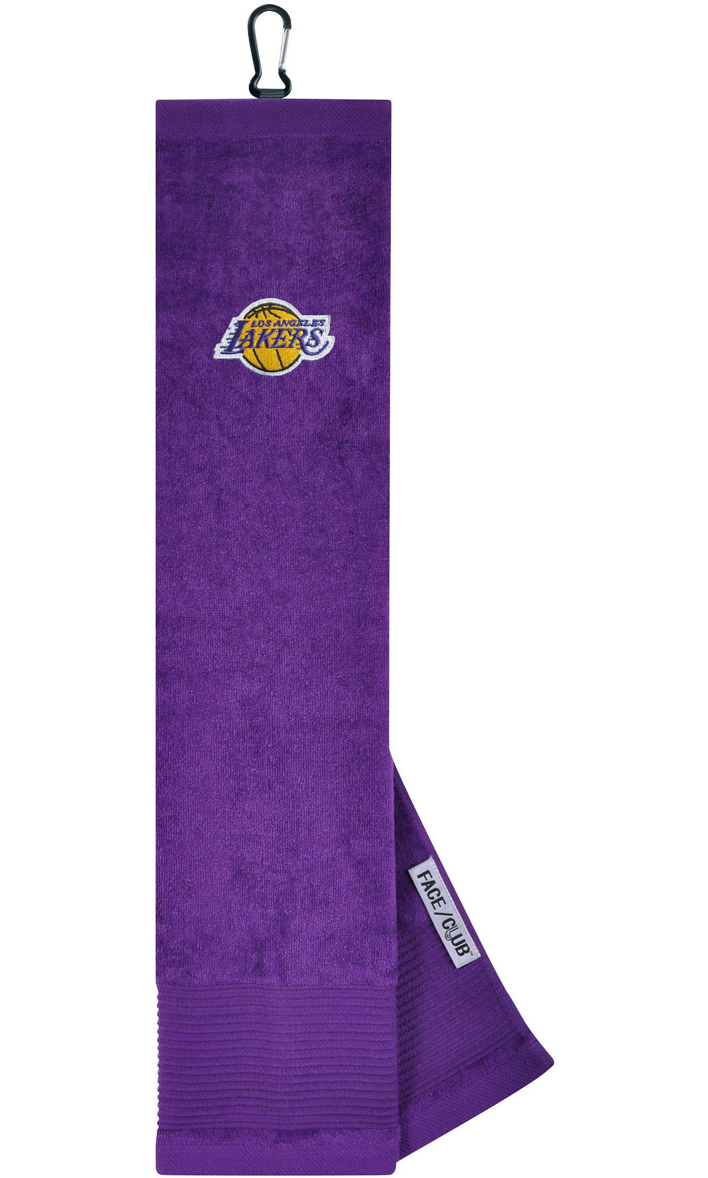 Team Effort Los Angeles Lakers Embroidered Face/Club Tri-Fold Towel
