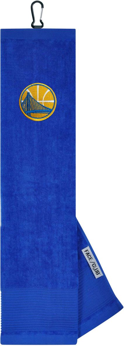Team Effort Golden State Warriors Embroidered Face/Club Tri-Fold Towel