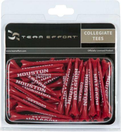 """Team Effort Houston Cougars 2.75"""" Golf Tees - 40 Pack"""