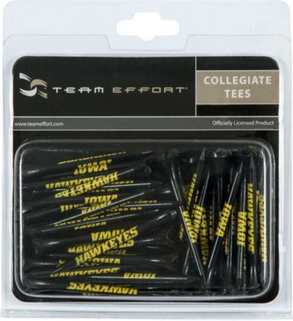 "Team Effort Iowa Hawkeyes 2.75"" Golf Tees - 40 Pack"