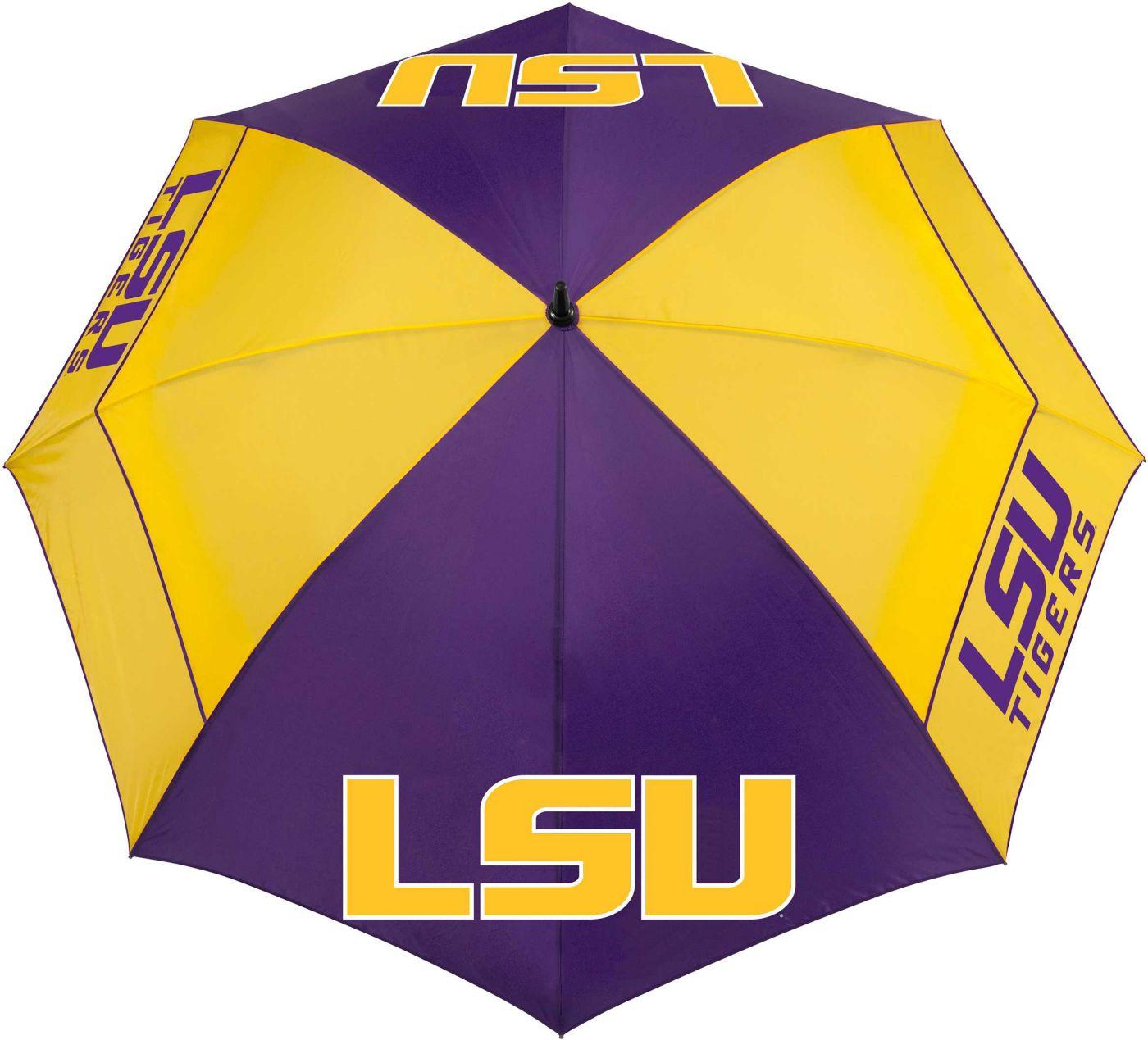 "Team Effort LSU Tigers 62"" Windsheer Lite Golf Umbrella"