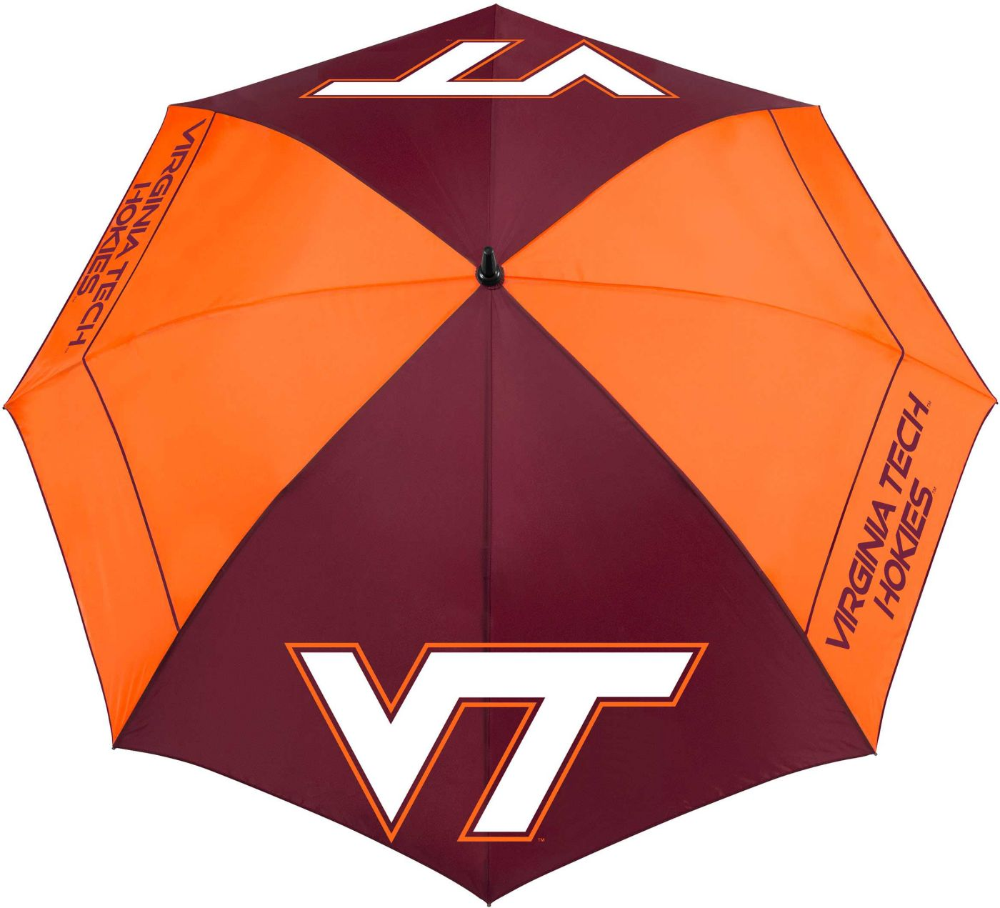 "Team Effort Virginia Tech Hokies 62"" Windsheer Lite Golf Umbrella"