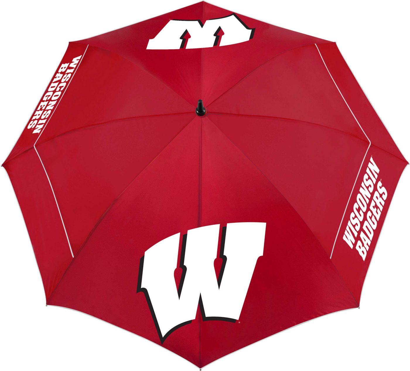 """Team Effort Wisconsin Badgers 62"""" Windsheer Lite Golf Umbrella"""
