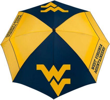 """Team Effort West Virginia Mountaineers 62"""" Windsheer Lite Golf Umbrella"""
