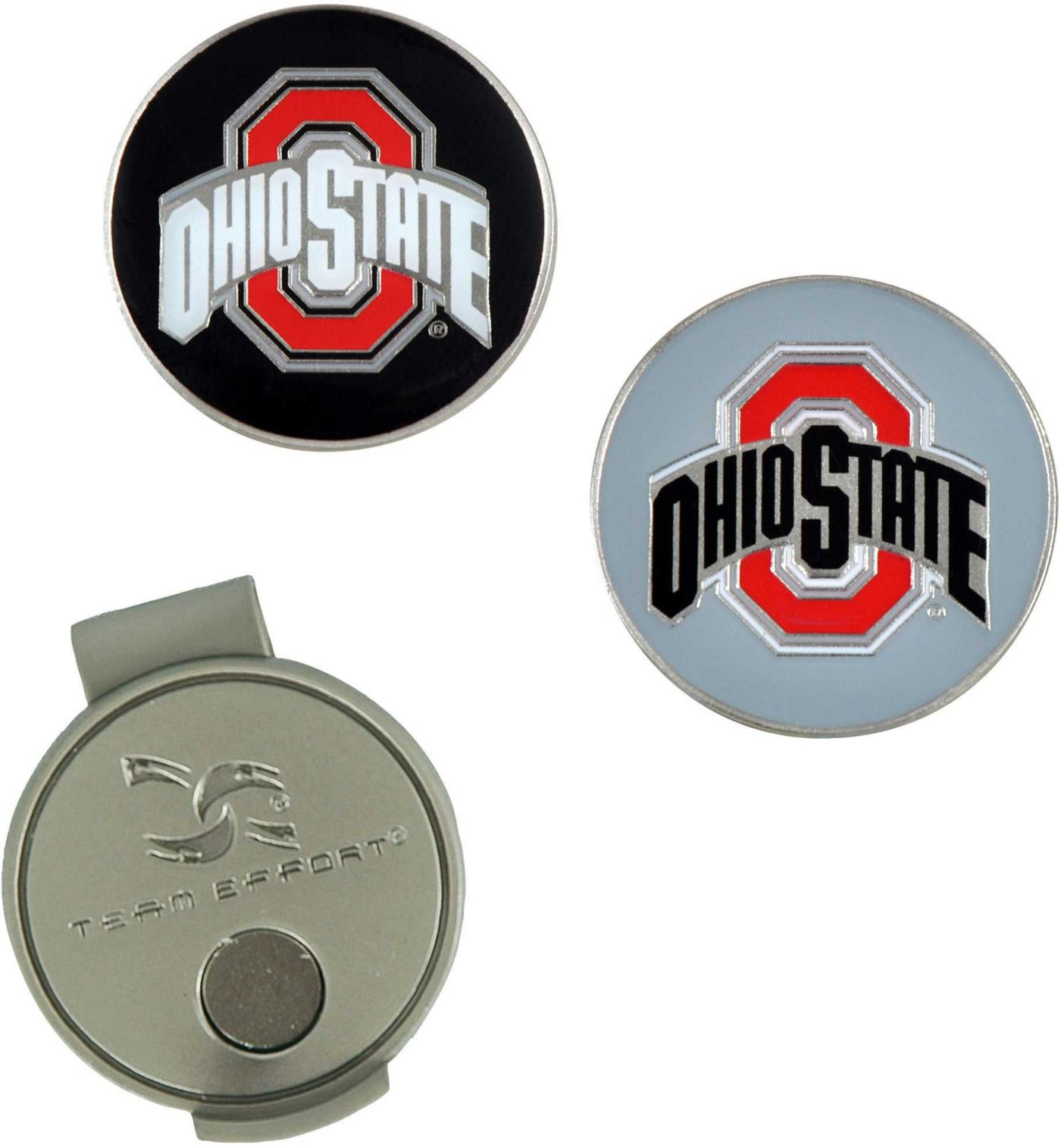 Team Effort Ohio State Buckeyes Hat Clip and Ball Markers Set