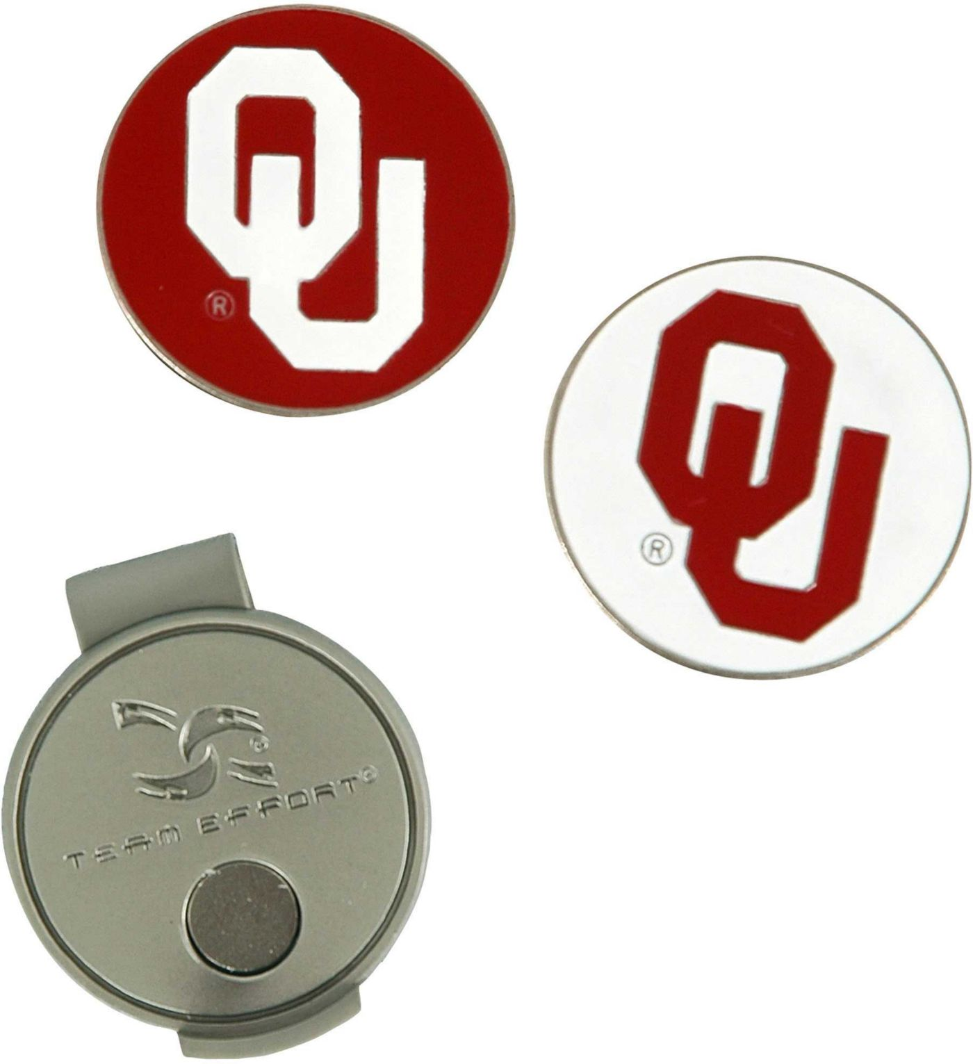 Team Effort Oklahoma Sooners Hat Clip and Ball Markers Set
