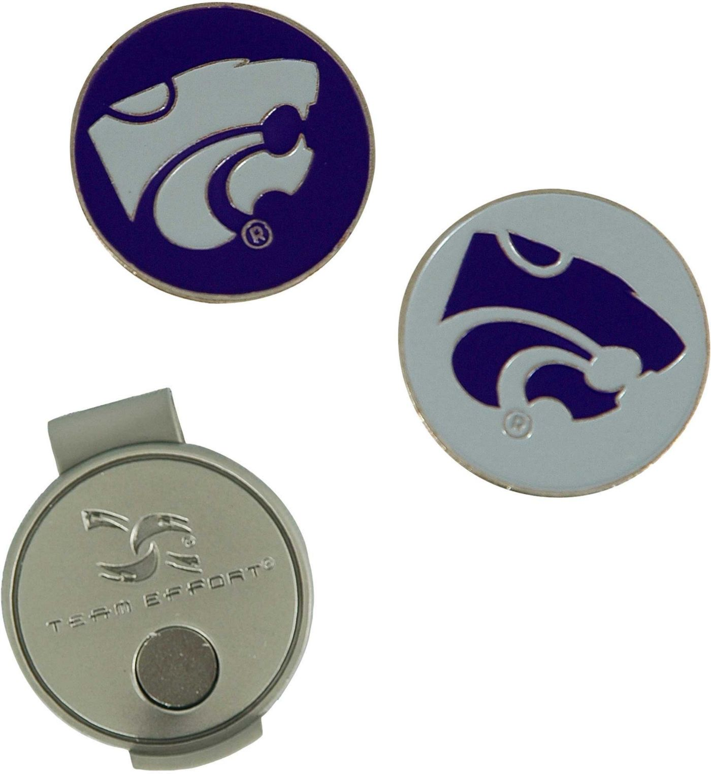 Team Effort Kansas State Wildcats Hat Clip and Ball Markers Set
