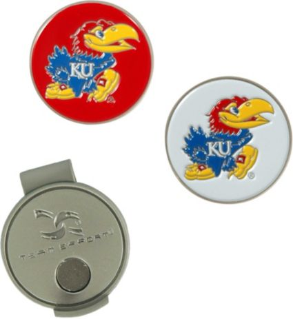 Team Effort Kansas Jayhawks Hat Clip and Ball Markers Set