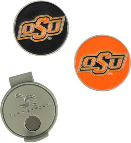 Team Effort Oklahoma State Cowboys Hat Clip and Ball Markers Set