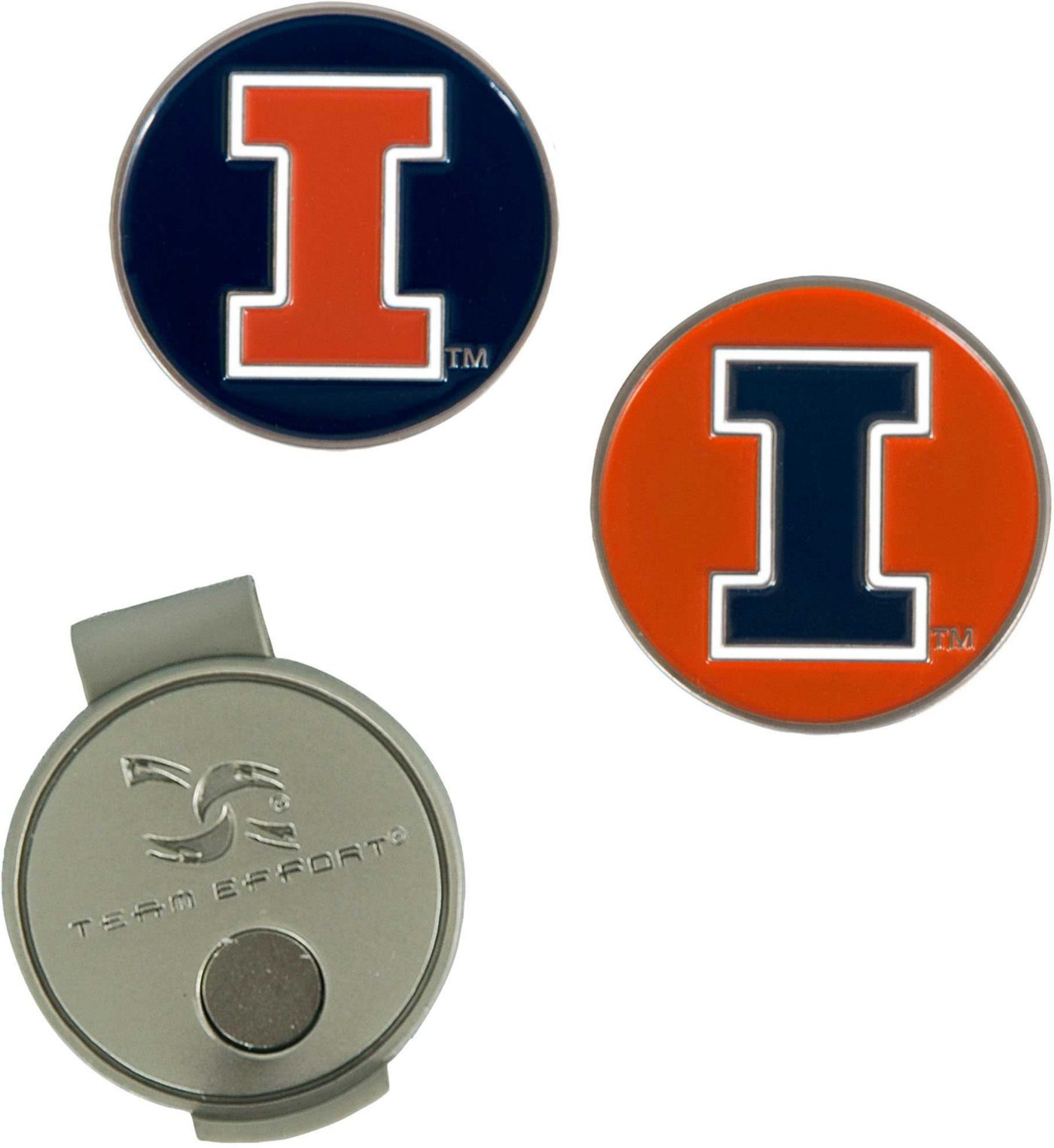 Team Effort Illinois Fighting Illini Hat Clip and Ball Markers Set