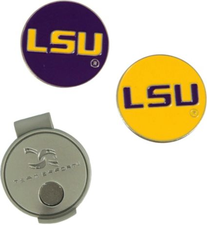 Team Effort LSU Tigers Hat Clip and Ball Markers Set