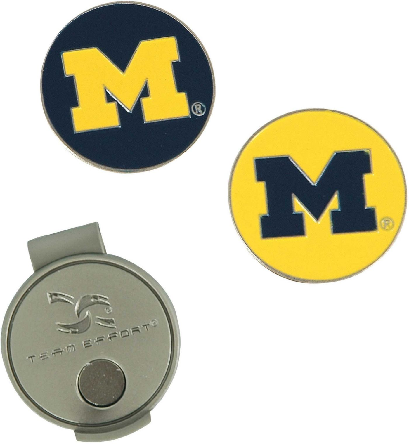 Team Effort Michigan Wolverines Hat Clip and Ball Markers Set