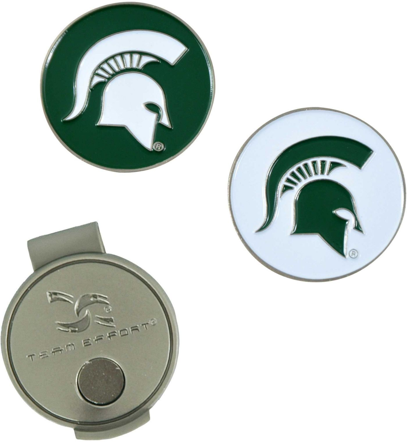 Team Effort Michigan State Spartans Hat Clip and Ball Markers Set