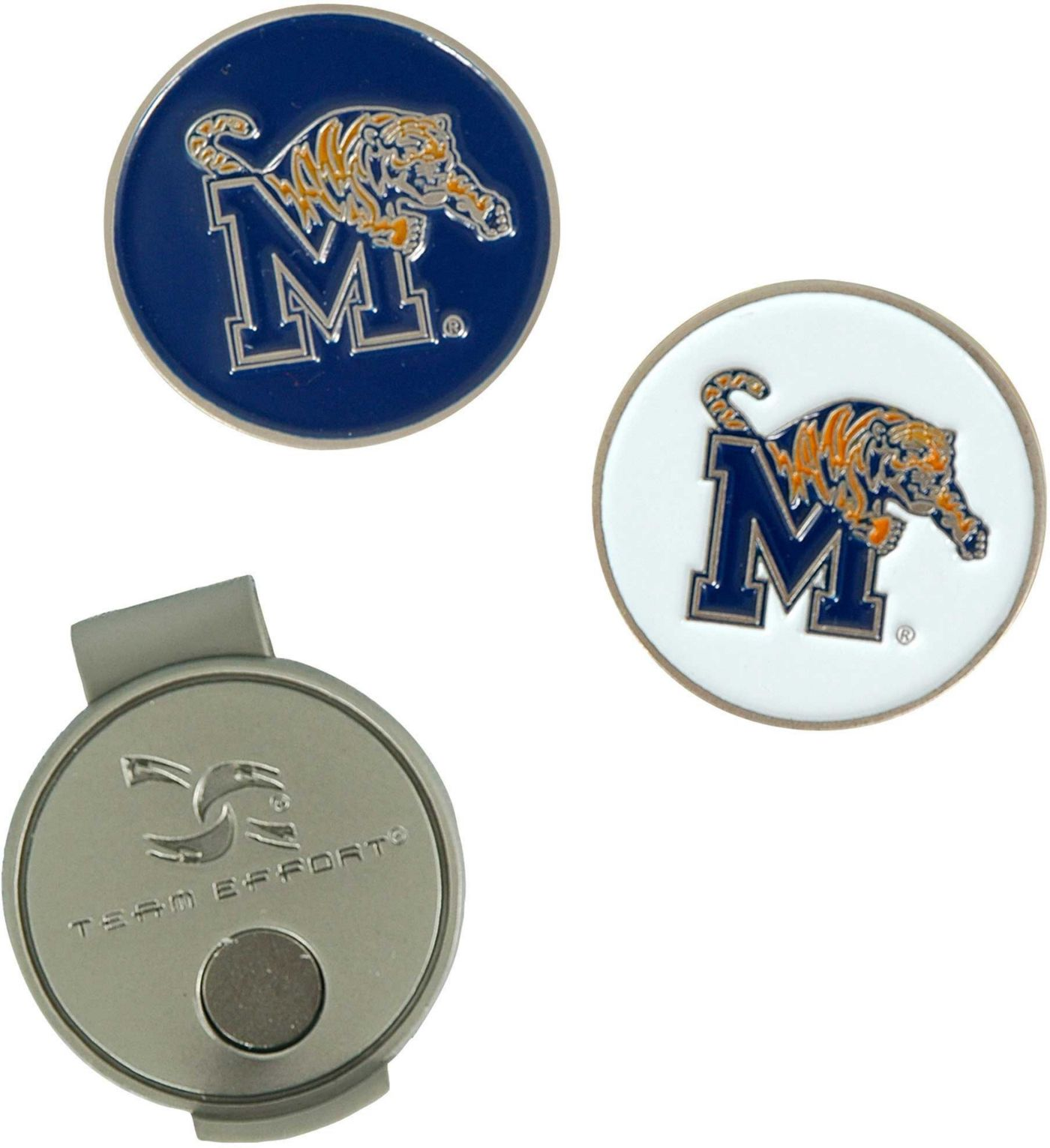 Team Effort Memphis Tigers Hat Clip and Ball Markers Set