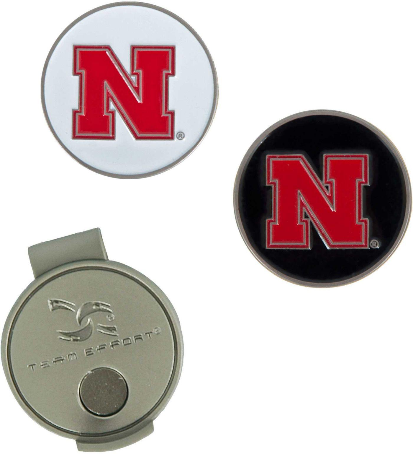 Team Effort Nebraska Cornhuskers Hat Clip and Ball Markers Set