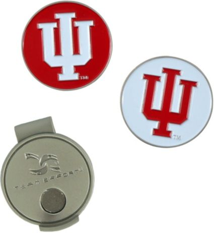 Team Effort Indiana Hoosiers Hat Clip and Ball Markers Set