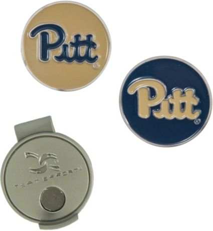 Team Effort Pitt Panthers Hat Clip and Ball Markers Set
