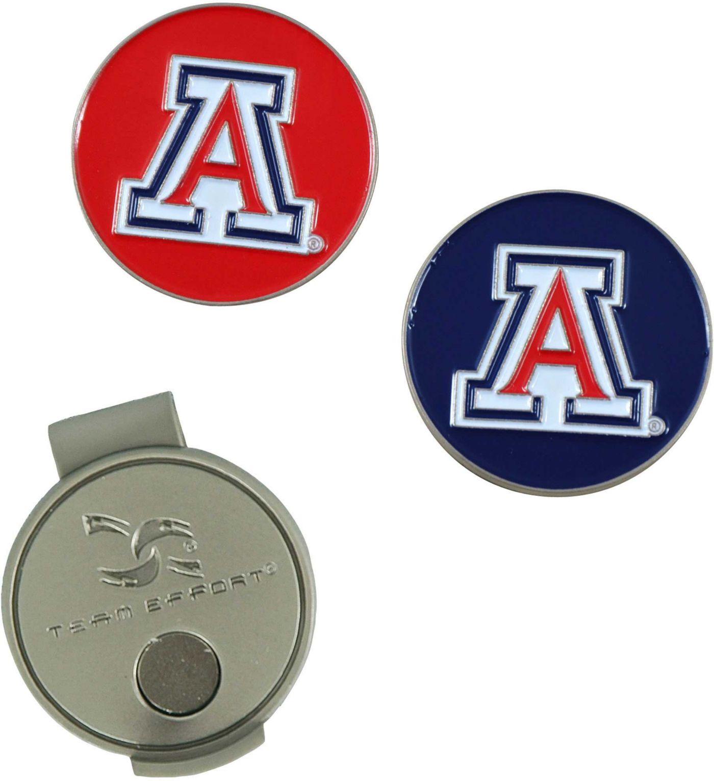 Team Effort Arizona Wildcats Hat Clip and Ball Markers Set