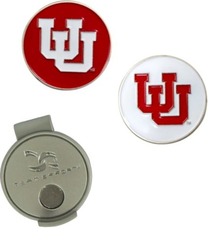Team Effort Utah Utes Hat Clip and Ball Markers Set