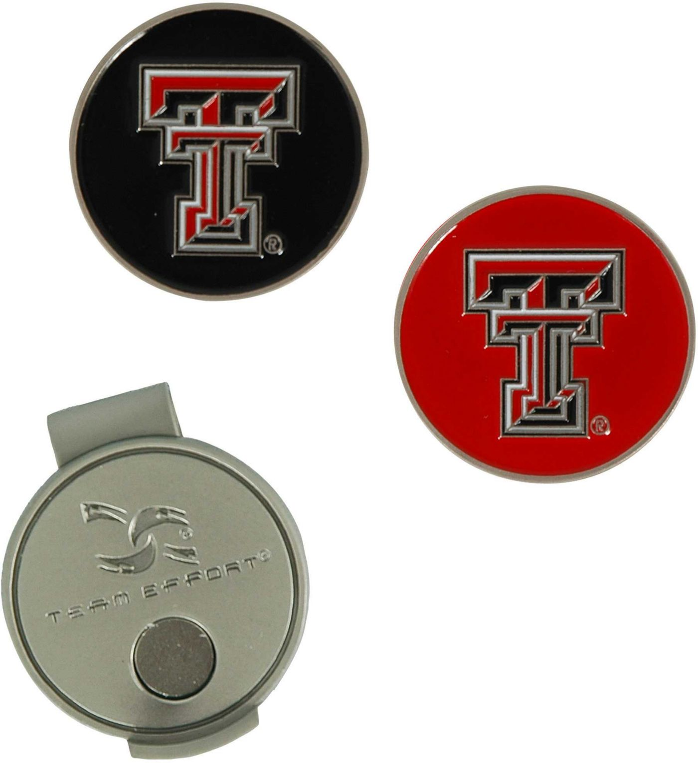 Team Effort Texas Tech Red Raiders Hat Clip and Ball Markers Set