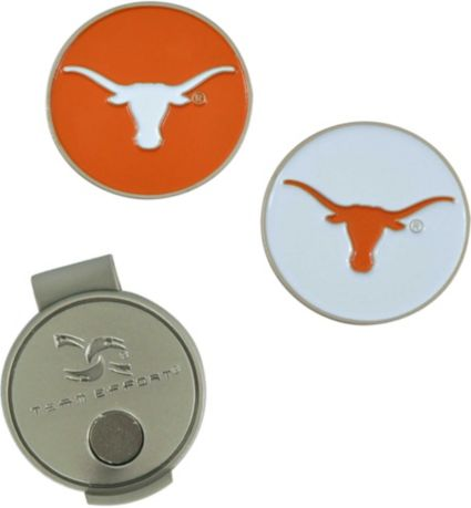 Team Effort Texas Longhorns Hat Clip and Ball Markers Set
