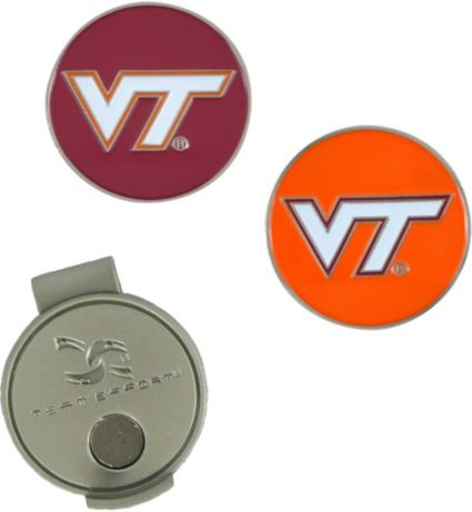 Team Effort Virginia Tech Hokies Hat Clip and Ball Markers Set