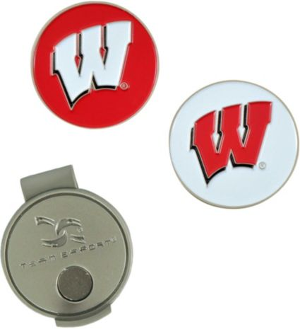 Team Effort Wisconsin Badgers Hat Clip and Ball Markers Set