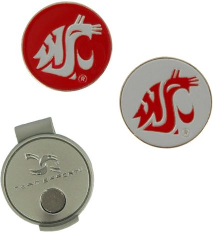 Team Effort Washington State Cougars Hat Clip and Ball Markers Set
