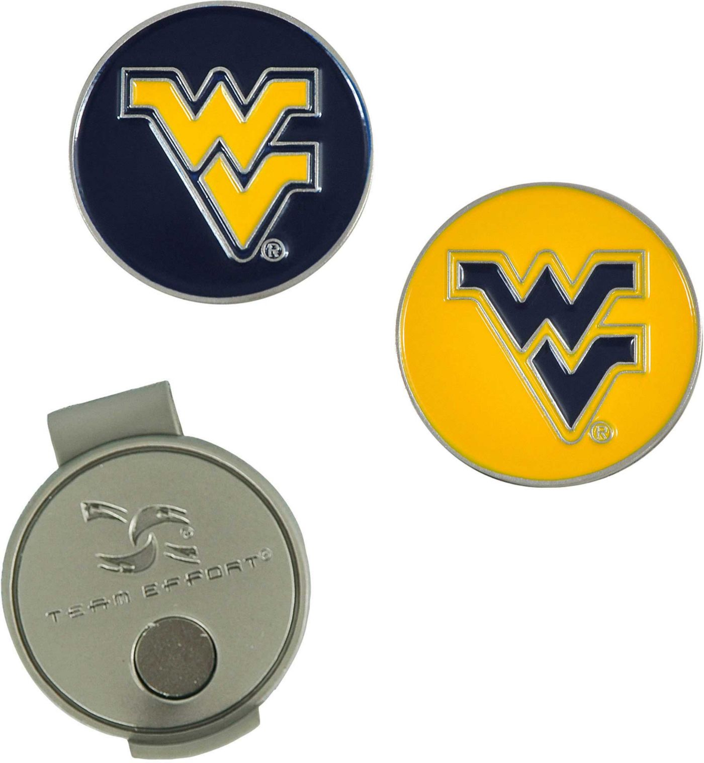 Team Effort West Virginia Mountaineers Hat Clip and Ball Markers Set