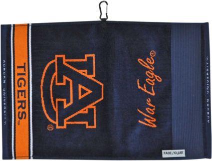 Team Effort Auburn Tigers Face/Club Jacquard Golf Towel