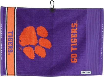 Team Effort Clemson Tigers Face/Club Jacquard Golf Towel