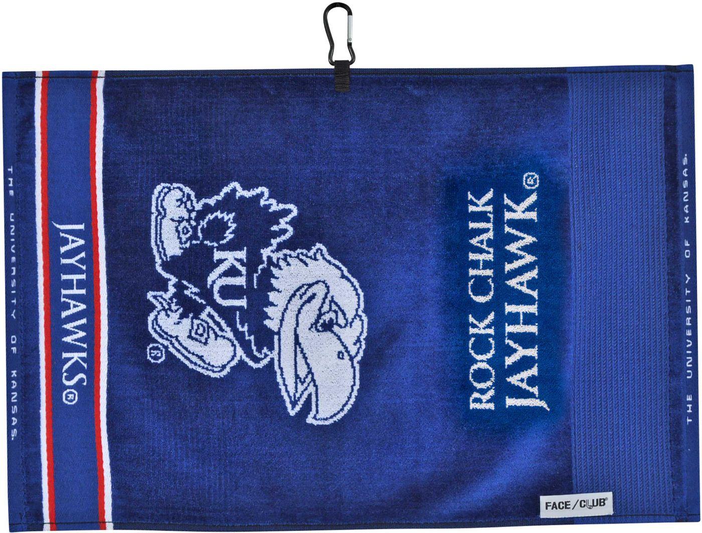 Team Effort Kansas Jayhawks Face/Club Jacquard Golf Towel