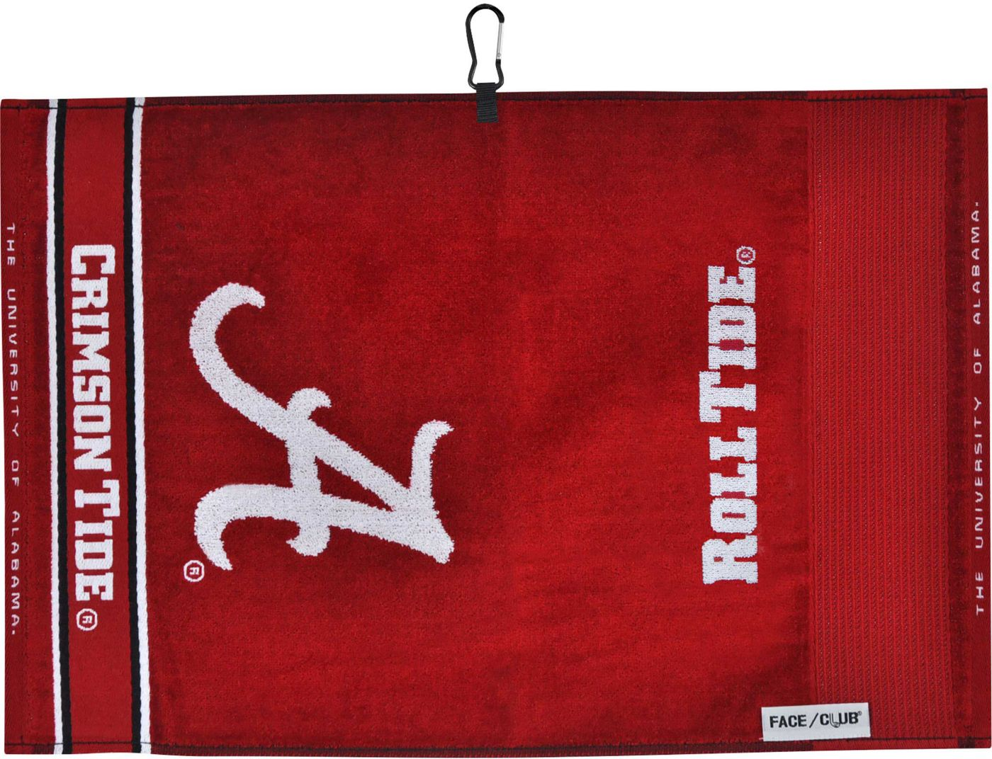 Team Effort Alabama Crimson Tide Face/Club Jacquard Golf Towel
