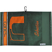 Team Effort Miami Hurricanes Face/Club Jacquard Golf Towel
