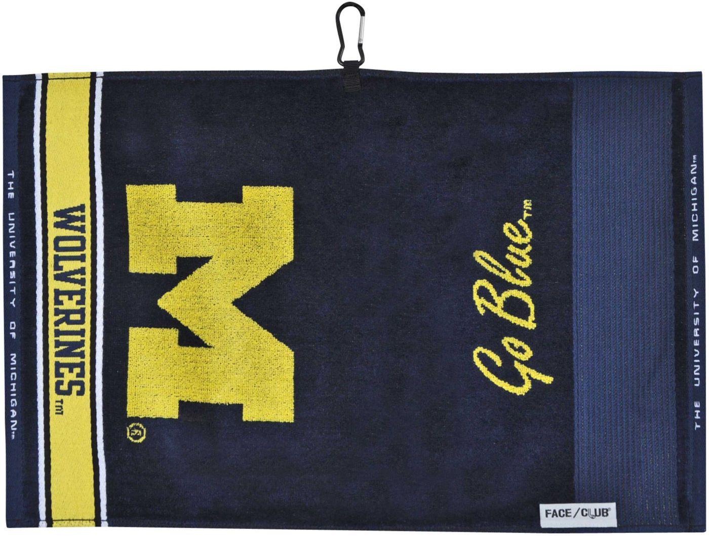 Team Effort Michigan Wolverines Face/Club Jacquard Golf Towel