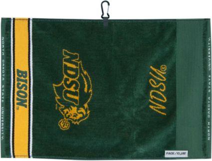 Team Effort North Dakota State Bison Face/Club Jacquard Golf Towel