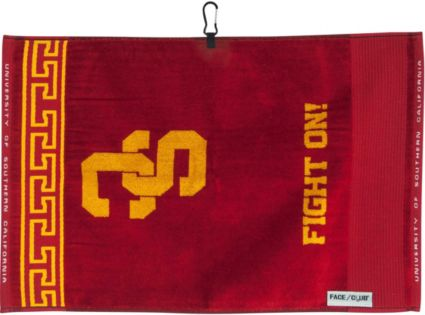 Team Effort USC Trojans Face/Club Jacquard Golf Towel