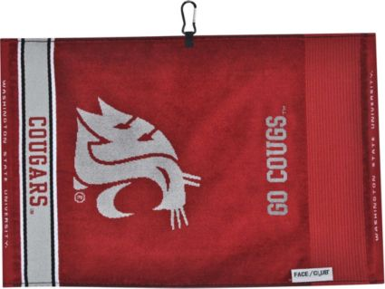 Team Effort Washington State Cougars Face/Club Jacquard Golf Towel