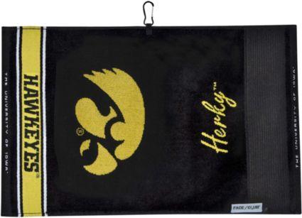 Team Effort Iowa Hawkeyes Face/Club Jacquard Golf Towel