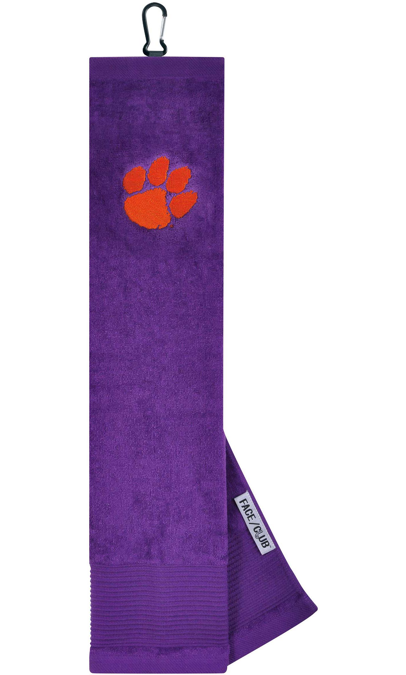 Team Effort Clemson Tigers Embroidered Face/Club Tri-Fold Towel