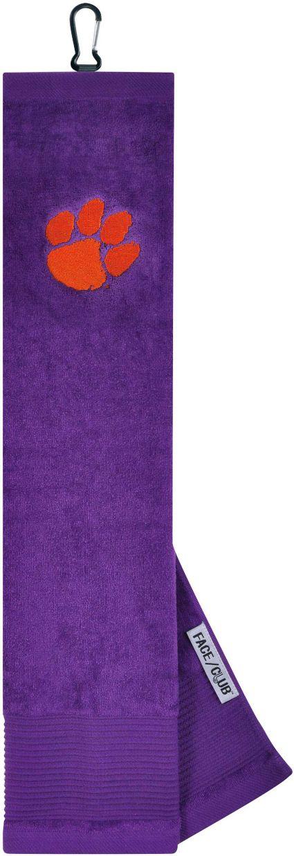 Team Effort Clemson Tigers Embroidered Face/Club Tri-Fold Towel